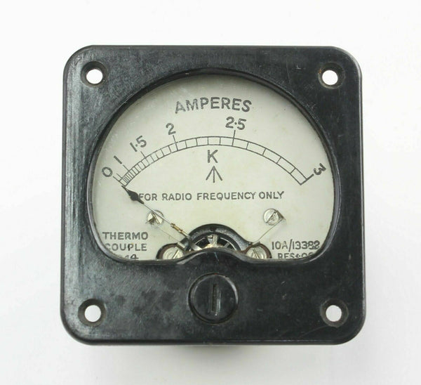 Ammeter 10A/13382 0-3A Gauge Indicator Instrument 1944 RAF Vintage Aircraft Part