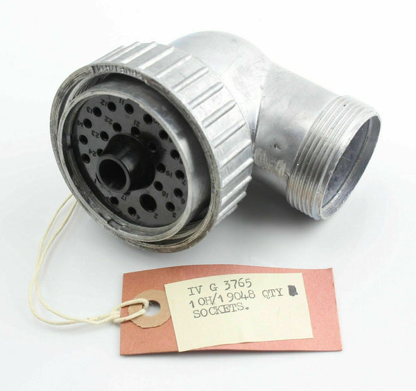 Socket 90 Degree 25 Hole 10H/19048 IV G 3765 Radio RAF Vintage Aircraft Spare