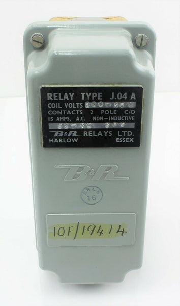 Relay Box Type J.04A 10F/19414 200-250VAC 15A B&R Radio Vintage Aircraft Part