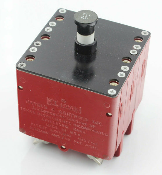 Circuit Breaker 2.5A 6752-304-2½ 5CY/6252888 Klixon 3 in 1 Ex-RAF Aircraft Part