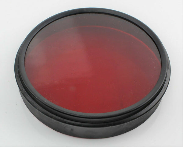 Front Red Lens Filter 5C/2337 Glass Ground Lighting Ex-RAF Vintage Aircraft Part