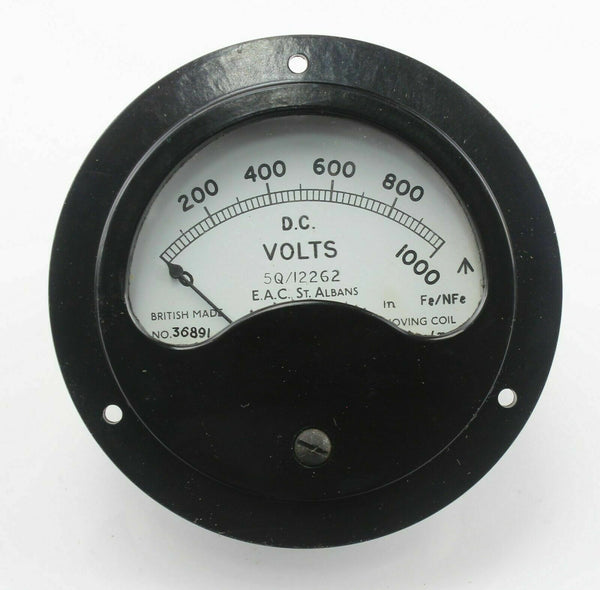 Voltmeter Gauge DC 0-1000V 5Q/12262 5Q/4347841 Electric Apparatus RAF Aircraft