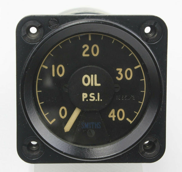 Oil Pressure Indicator Ratiometer Gauge 6A/2714 1ACR 40PSI Smiths RAF Aircraft