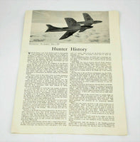 Hunter History Reprint from The Aeroplane May 2nd 1958