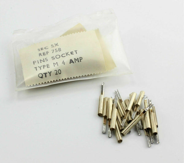 20 x Socket Pins Type M 4 Amp 5X/758 Electrical RAF Vintage Aircraft Spare