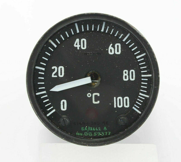 Temperature Gauge Instrument 0-100°C S149/1/303AE 6A/11662 Weston RAF Aircraft