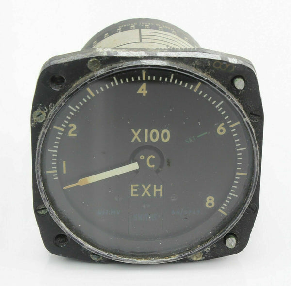Exhaust Gas Temperature Indicator Gauge 6A/5247 417MV 800°C RAF VIntage Aircraft