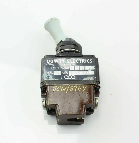 Toggle Switch 1260-1N31C 2 Position 5CW/8769 Dowty RAF Aircraft Spare Vintage