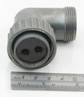 Socket 90 degree 2 Pole 10H/4532 Cannon RAF Radio Plug Vintage Aircraft Part