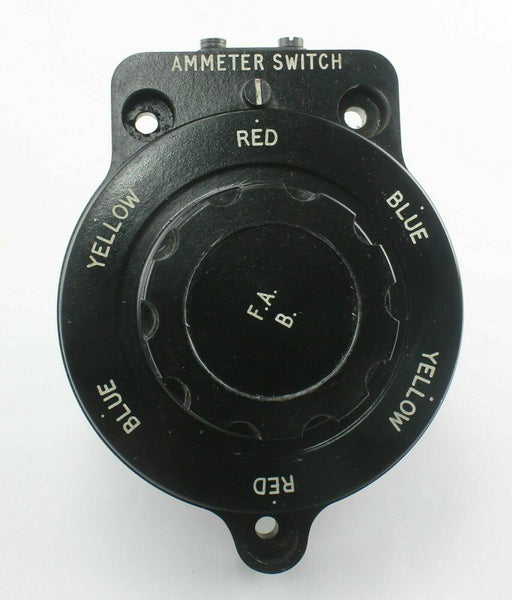 Rotary Ammeter Switch 10F/9993184 Radio FAB RAF Vintage Aircraft Spare Bakelite