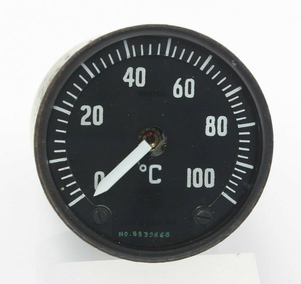 Temperature Gauge Instrument 0-100°C S149/1/303AA Weston RAF Aircraft Spare