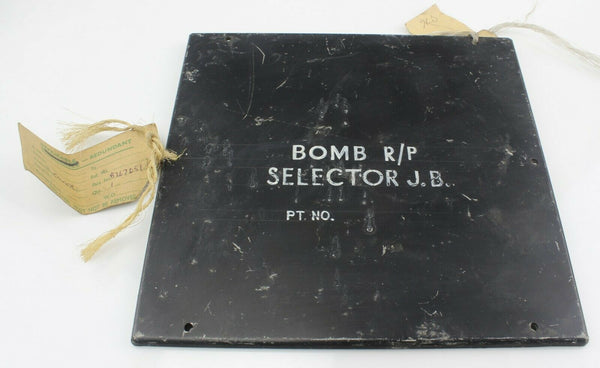 Panel Cover Junction Box B267051 Bomb Selector R/P RAF Vintage Aircraft Part