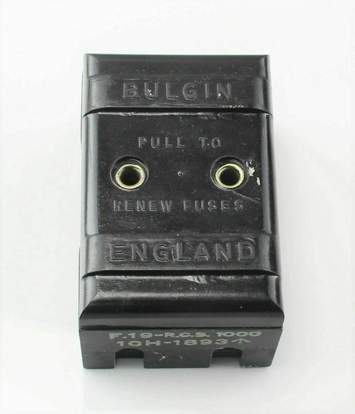 Dual Fuse Holder Type 30 10H/1893 Radio Bakelite RAF Vintage Aircraft Part