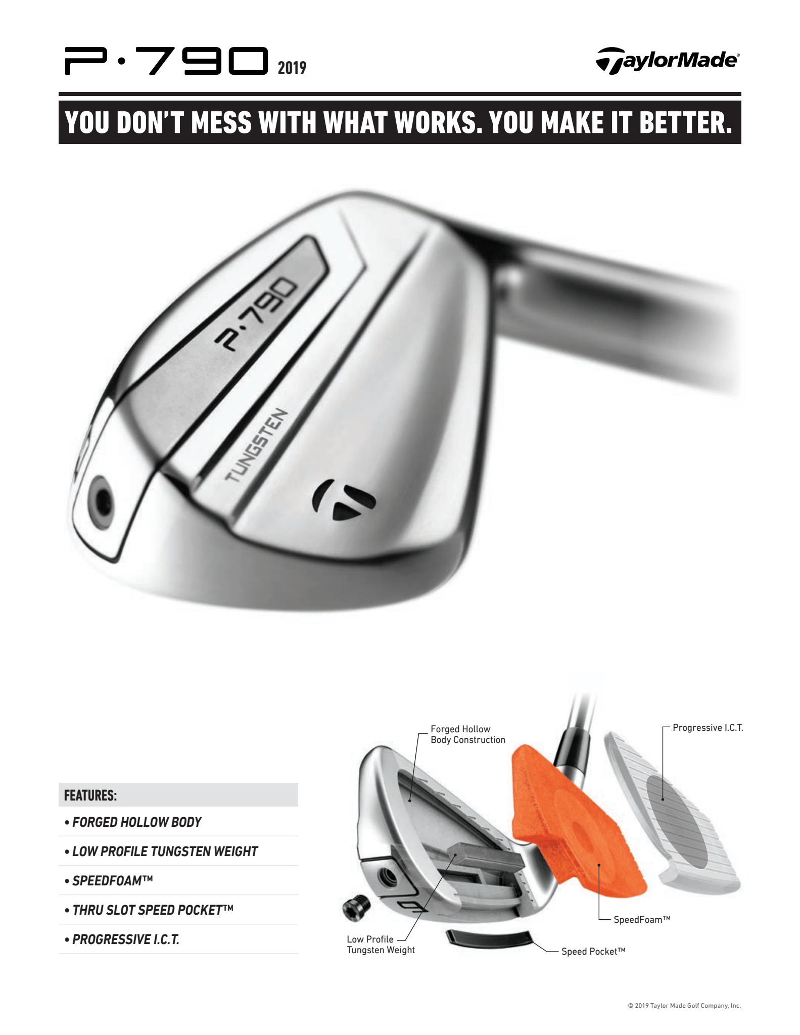 Features of a Taylormade P790 Iron