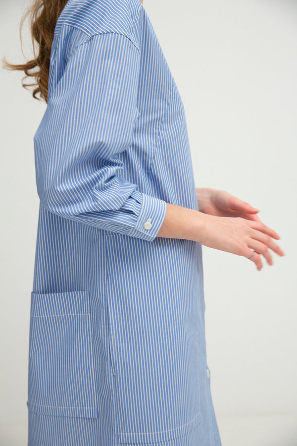 Shirtdress No. 26: (French Blue Stripe)