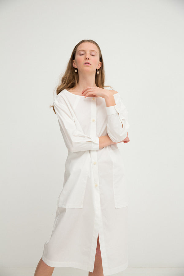 Shirtdress No. 26: (Vintage White)