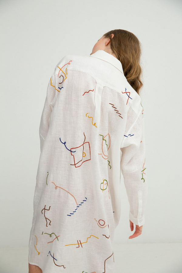 Shirtdress No. 23: (White)