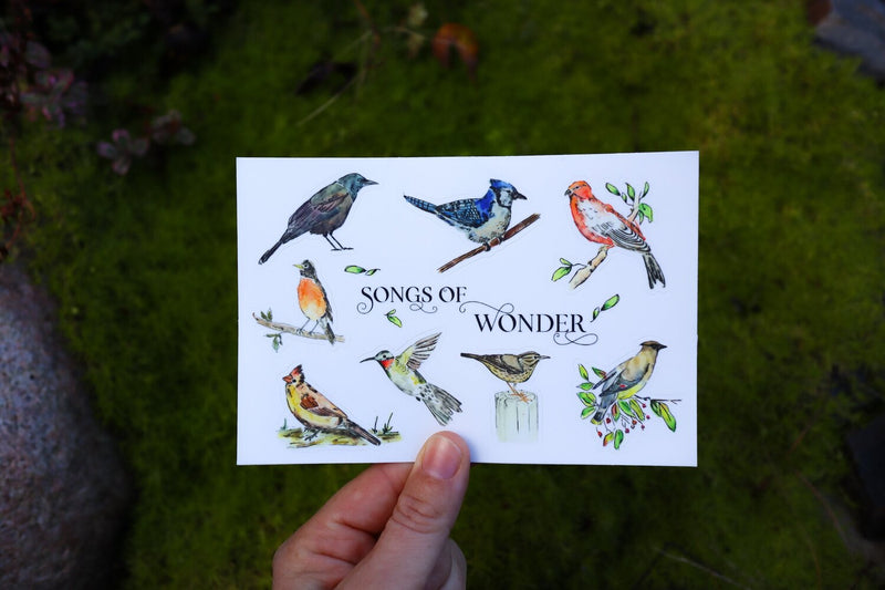 Heirloom Island - Birds of Wonder, Sticker Sheet, 4x6