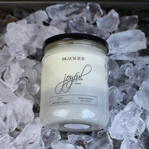 Black Ice Soy Candles - Joyful Home Inc.