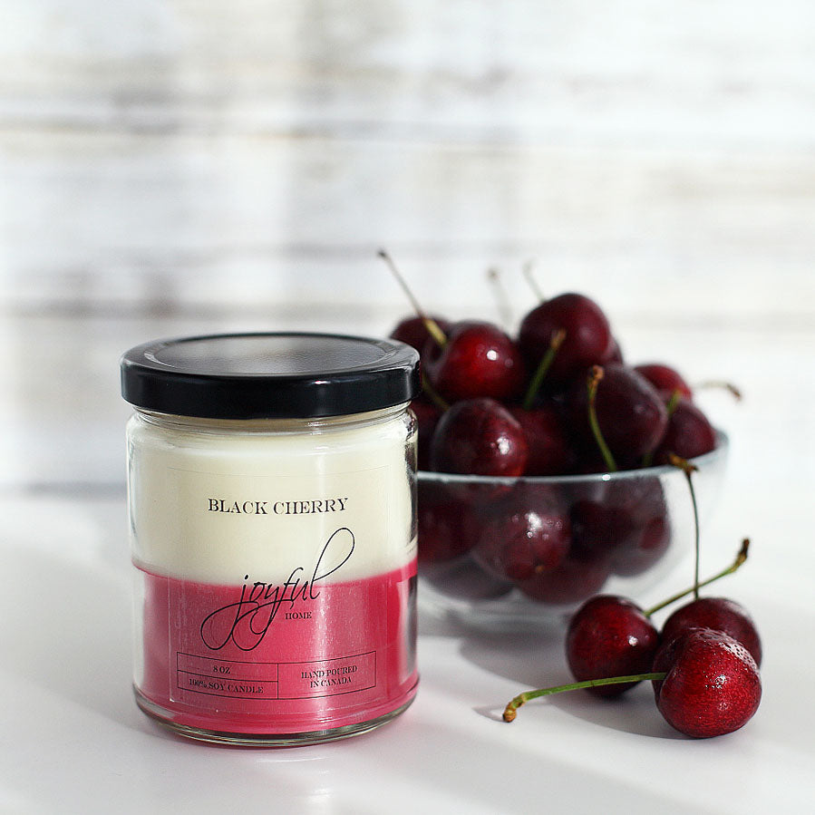Black Cherry Soy Candle - Joyful Home Inc.