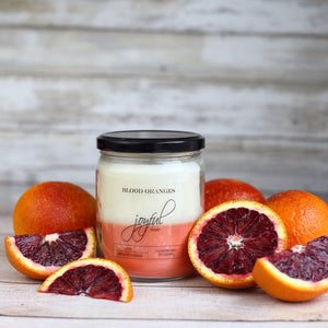 Blood Orange Scented Soy Wax Candle Handmade in Canada