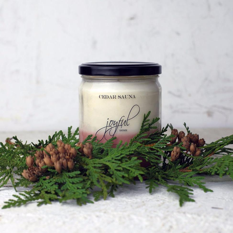 Cedar Sauna Soy Candle - Joyful Home Inc.