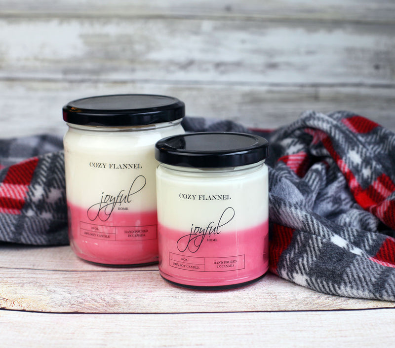 Cozy Flannel Soy Candles - Joyful Home Inc.
