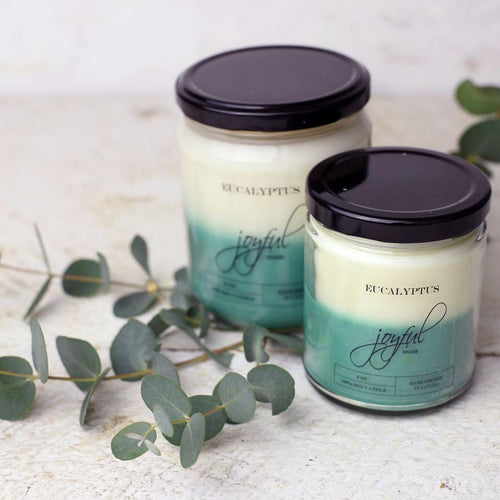 Eucalyptus Soy Candle - Joyful Home Inc.