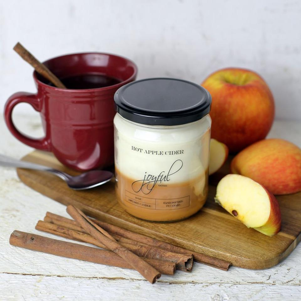Hot Apple Cider Soy Candle & Wax Melts - Joyful Home Inc.