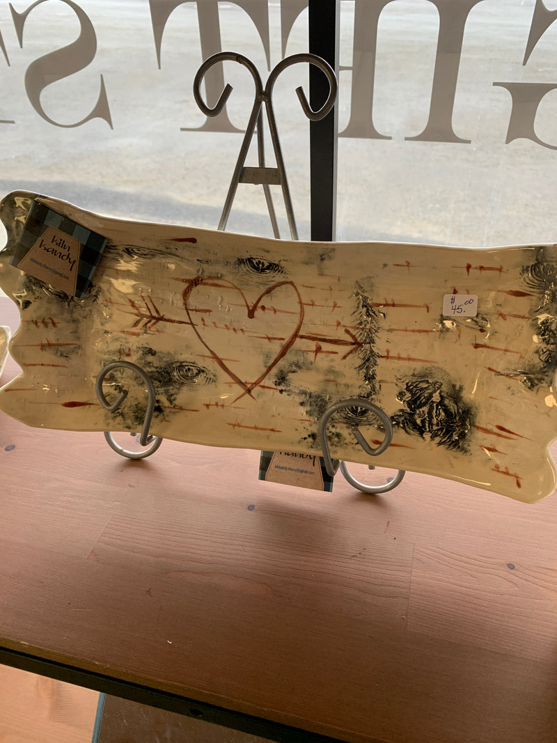 Kiln Kandy - Birch Tray with Heart