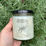 Citronella and Lemongrass Essential Oil Soy Candles - Joyful Home Inc.