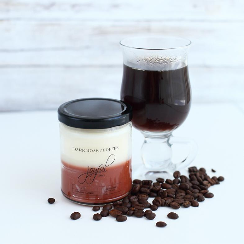 Dark Roast Coffee Soy Candles - Joyful Home Inc.