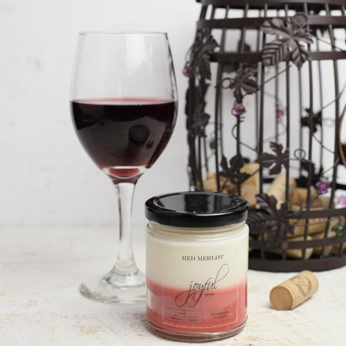 Red Merlot Soy Candles - Joyful Home Inc.