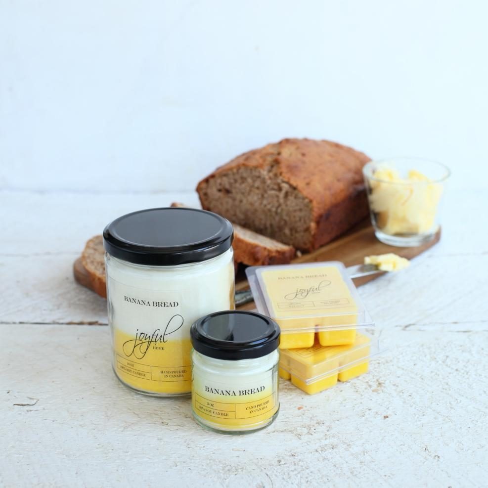 Banana Bread Soy Candles & Wax Melts - Joyful Home Inc.