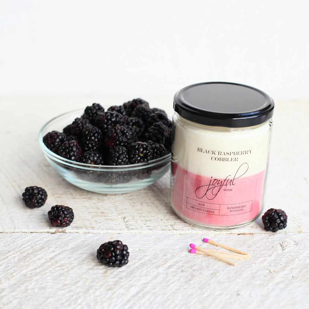 Black Raspberry Cobbler Soy Candle & Wax Melts - Joyful Home Inc.