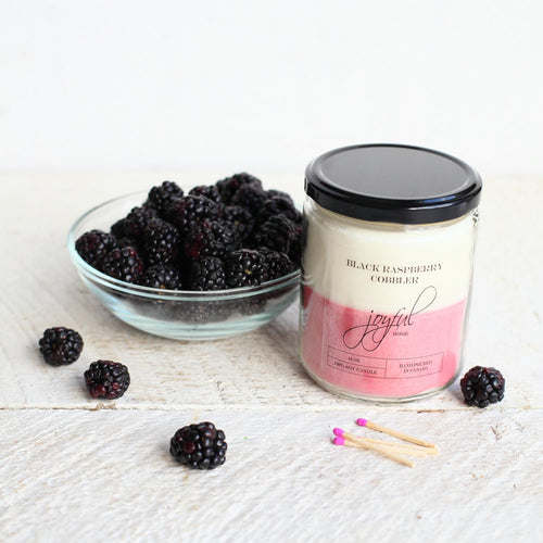 Black Raspberry Cobbler Soy Candle - Joyful Home Inc.