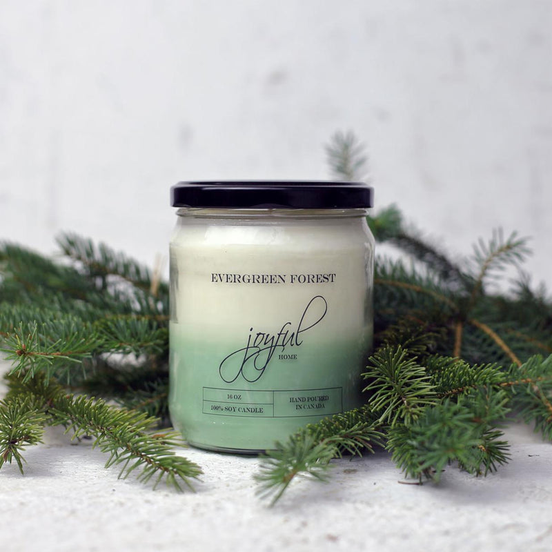 Evergreen Soy Candle - Joyful Home Inc.