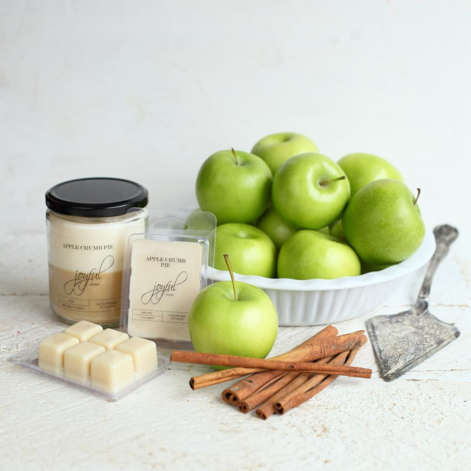 Apple Crumb Pie Soy Candle & Wax Melts - Joyful Home Inc.