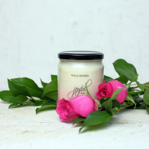 Wild Roses Soy Candle - Joyful Home Inc.