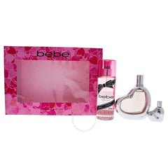 BEBE - Bebe para mujer / SET - 100 ml Eau De Parfum Spray + 250 ml Body Mist + 10 ml mini EDP