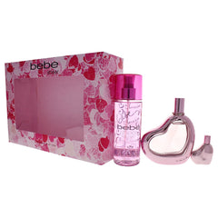 BEBE - Bebe Sheer para mujer / SET - 100 ml Eau De Parfum Spray + 250 ml Body Mist + 10 ml mini EDP
