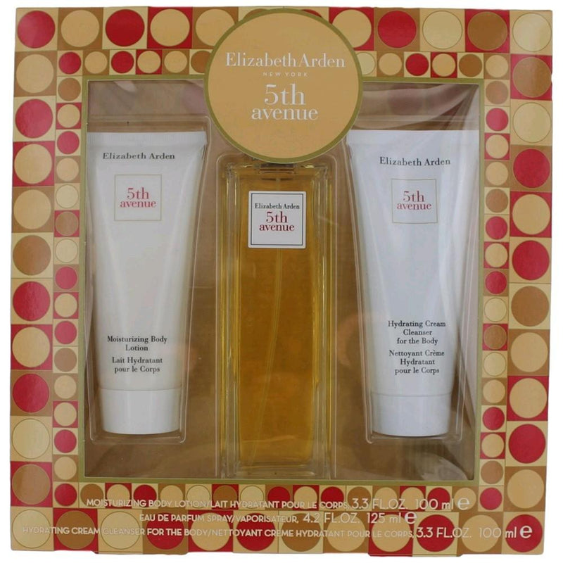 ELIZABETH ARDEN - 5th Avenue para mujer / SET - 125 ml Eau De Parfum Spray + 100 ml Body Lotion + 3.7 ml MINI EDP