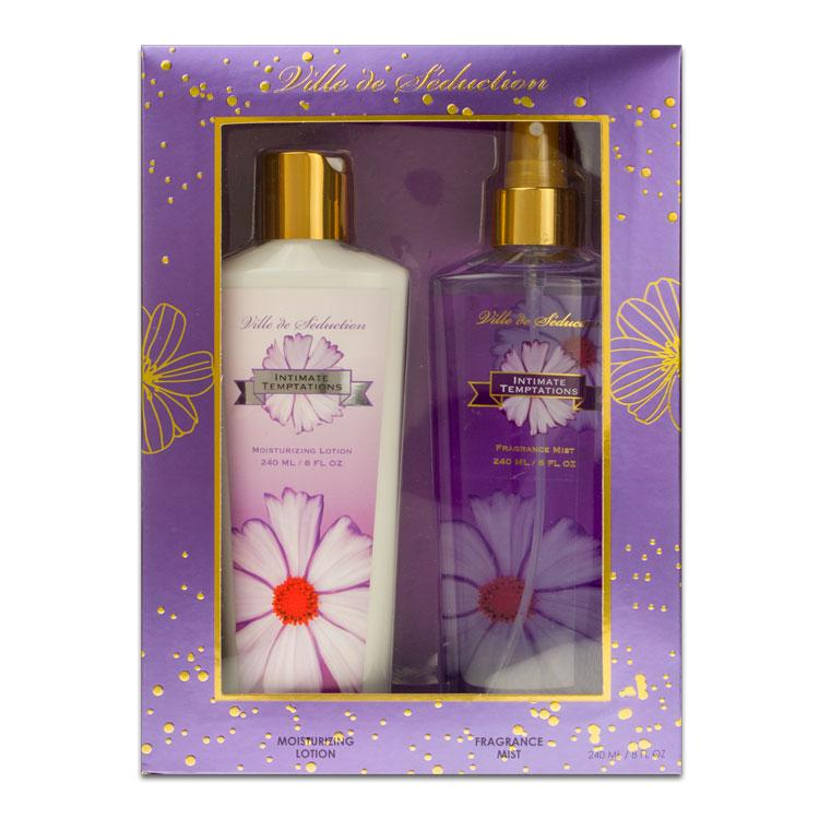 VILLE DE SEDUCTION - Intimate Temptations para mujer / SET - 240 ml Fragrance Mist + 240 ml Moisturizing Lotion