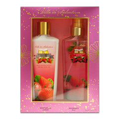 VILLE DE SEDUCTION - Strawberry Nights para mujer / SET - 240 ml Fragrance Mist + 240 ml Moisturizing Lotion