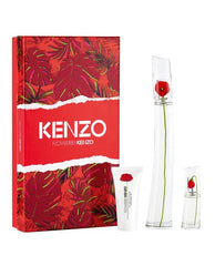KENZO - Flower by Kenzo para mujer / SET - 100 ml Eau De Parfum Spray + 50 ml Crema corporal + 15 ml Mini EDP Spray