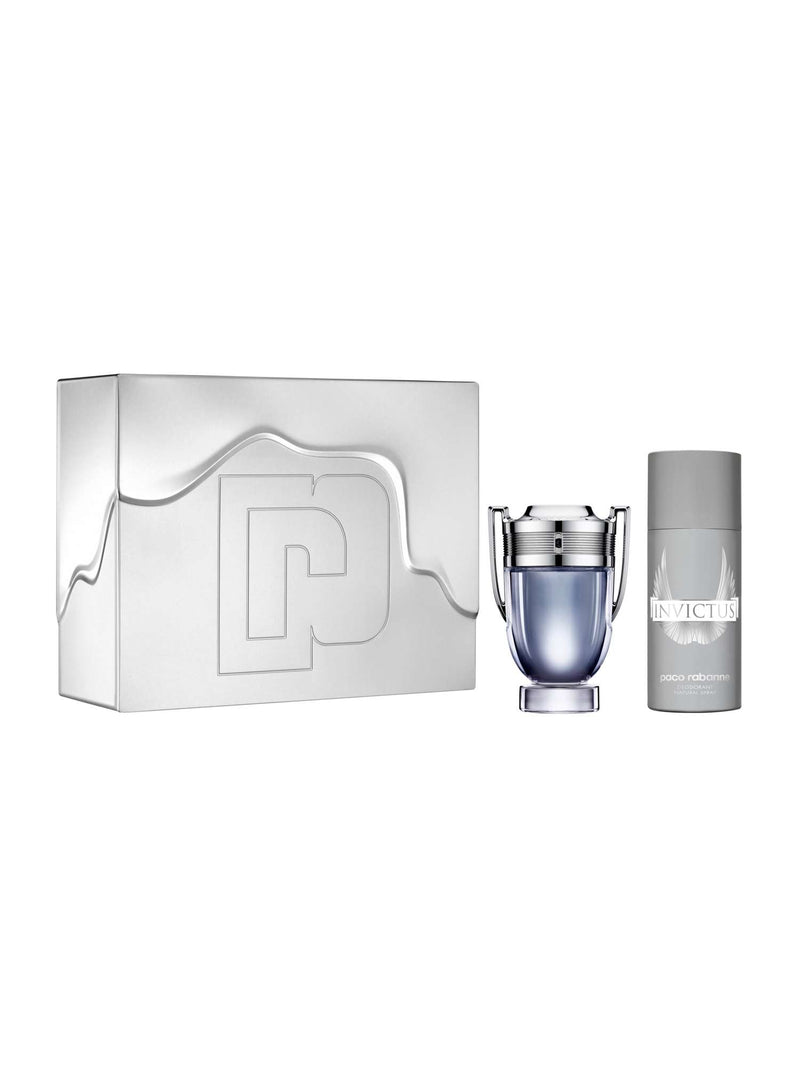 PACO RABANNE - Invictus para hombre / SET - 100 ml Eau De Toilette Spray + 150 ml Deodorant Spray