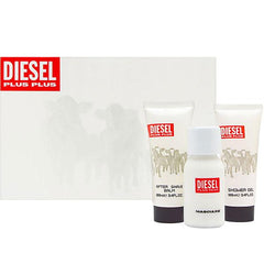 DIESEL - Diesel Plus Plus para hombre / SET - 75 ml Eau De Toilette Spray + 100 ml Shower Gel + 100 ml After Shave + 15 ml EDT Spray