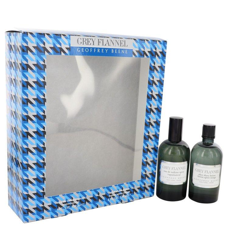 GEOFFREY BEENE - Grey Flannel para hombre / SET - 120 ml Eau De Toilette Spray + 120 ml After Shave Lotion