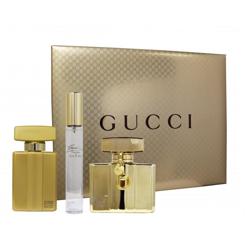 GUCCI - Gucci Premiere para mujer / SET - 75 ml Eau De Parfum Spray + 100 ml Body Lotion + 7.4 ml mini EDP