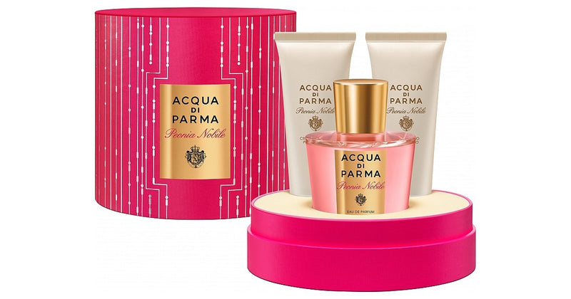 ACQUA DI PARMA - Acqua Di Parma Peonia Nobile para mujer / SET - 100 ml Eau De Parfum Spray + 75 ml Gel de baño + 75 ml Crema corporal